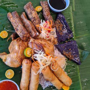 Filipino Food Sampler Platter